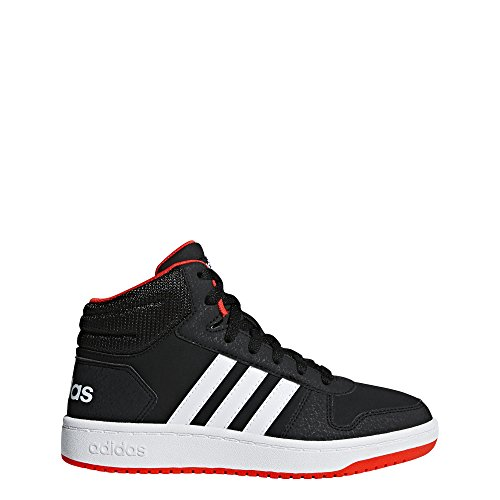 adidas Baby Hoops 2.0 Basketball Shoe, black/white/red