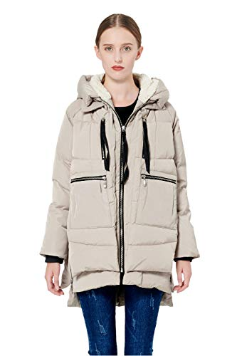 Orolay Women's Thickened Down Jacket Beige S