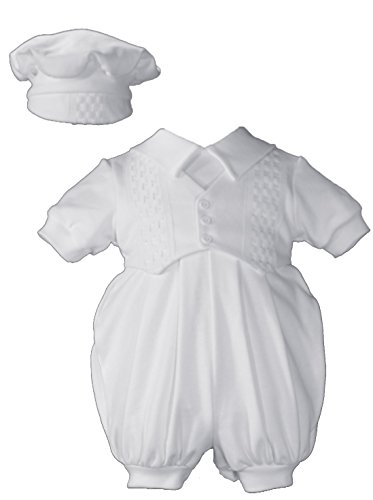 Short White Boys Celebration Christening Baptism Set