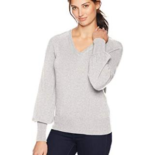 Lark & Ro Women's Sweaters V Neck Cashmere Sweater