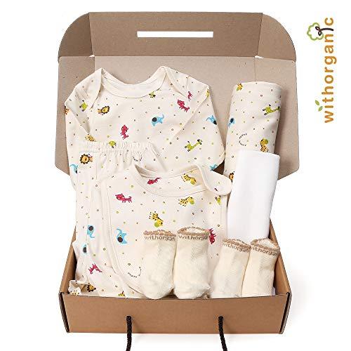 WithOrganic Newborn Gift Set | 100% Organic Certified Cotton