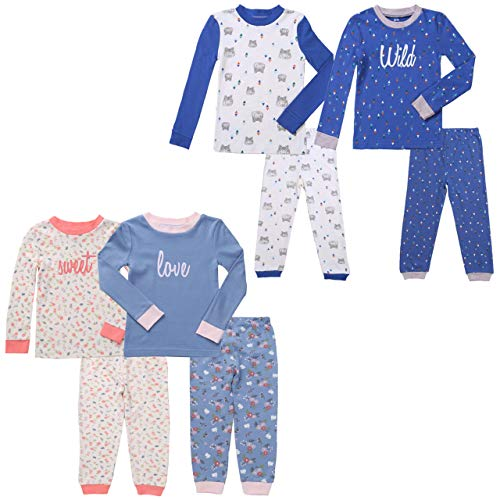 Asher & Olivia Twin Outfits for Boy and Girl 4 Pc Cotton Pajamas