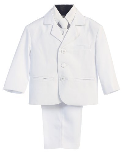 5 Piece White First Communion or Christening Suit with Shirt