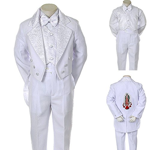 Unotux Boys Christening Baptism Suits Tuxedo White