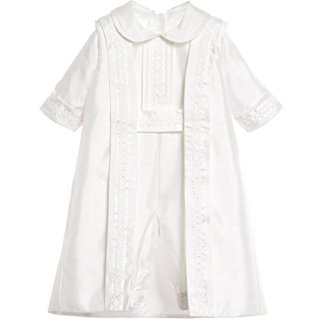 Newdeve Christening Outfit Baby Boy Baptism Suits Summer Short Sleeves