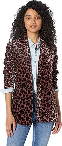 J.Crew Women's Rimbaud Blazer Leopard Drapey Velvet Rose