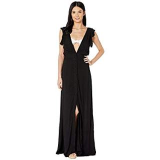 Maaji Women's Turtle-Iffic Long Dress Cover-Up Black Small