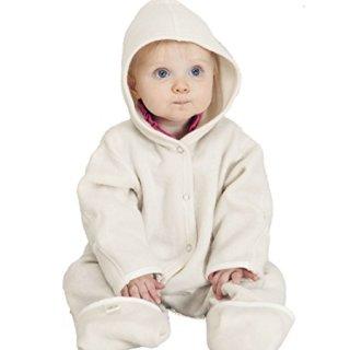 LANACare Organic Merino Wool Hooded Overall, Natural White
