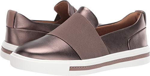 CLARKS Un Maui Step Womens Slip On Sneakers Pebble Metallic Leather