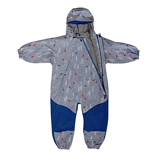 JAN & JUL Kids Water-Proof Fleece-Lined Rain Suit One-Piece Hooded