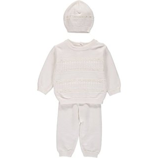 Boutique Collection Baby Boy 2 Piece Knit Christening Bris Outfit