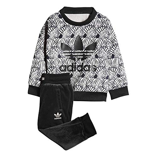 Adidas Kids(Infant) Originals Zebra Crew Set
