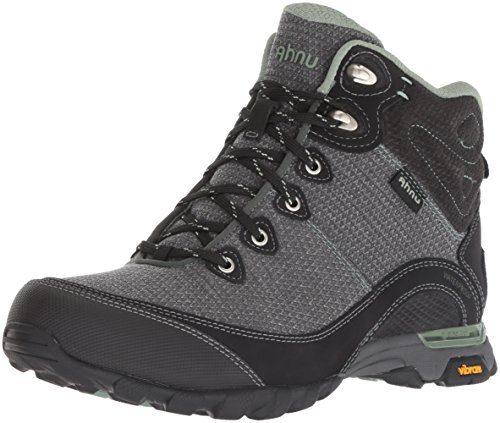 Ahnu Women's W Sugarpine II Waterproof Hiking Boot, Black/Green Bay