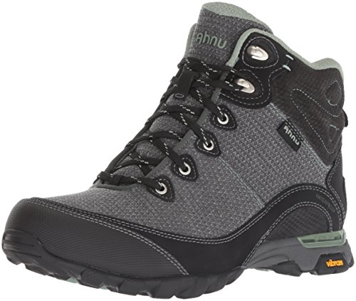 Ahnu Women's W Sugarpine II Waterproof Hiking Boot, Black/Green Bay