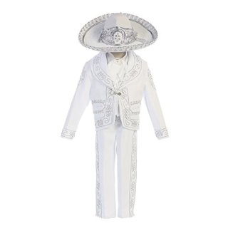 Angels Garment Little Boys WhiteOur Lady Guadalupe Charro Baptism Set