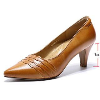Mona flying Womens Leather Pumps Dress Shoes