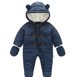 Ikerenwedding Baby Hoodie Down Jacket Jumpsuit Snuggly Snowsuit