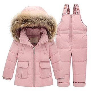 JELEUON Baby Girls Two Piece Winter Warm Hooded