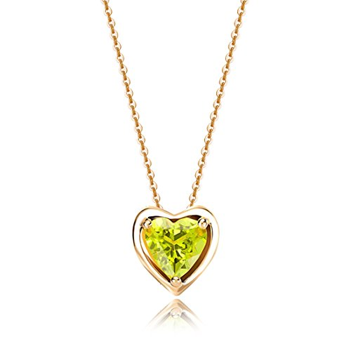 Carleen Solid 14K Yellow Gold Birthday Heart Shape