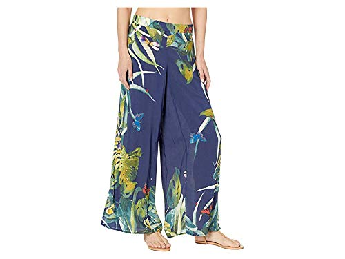 VINCE CAMUTO Women's Wrap Cover-Up Pants Deep Sea Large