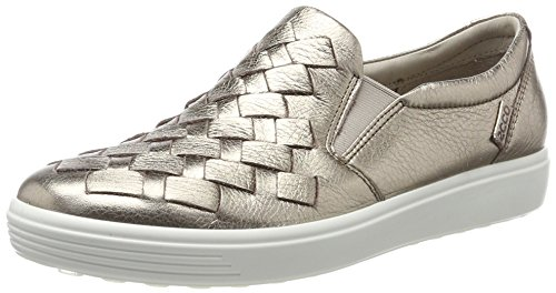 ECCO Women's Soft 7 Slip Fashion Sneaker, Warm Grey Woven