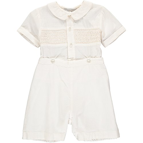 Baptism Outfit for Toddler Boys Hand Smocked Special Occasion Bobbie Suit