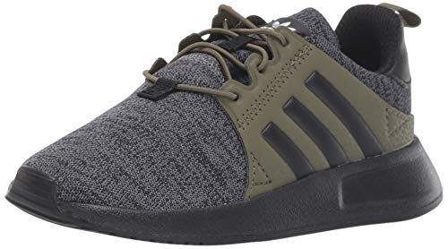 adidas Originals Baby X_PLR Running Shoe, Dark Grey Heather/Black