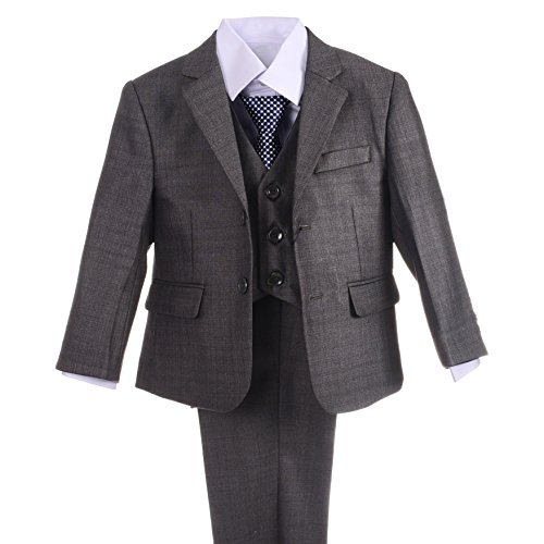 Dressy Daisy Boys Formal Dress Suits Wedding Outfit Grey Suits