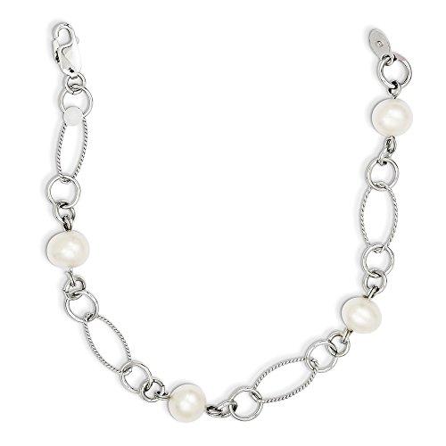 Sterling Silver Freshwater Cultured Pearl Bracelet 7.75 Inch