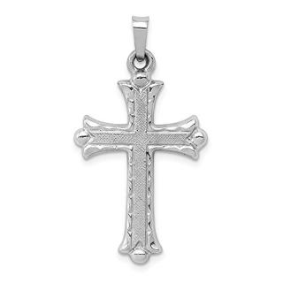 Jewels By Lux 14K White Gold Textured and Polished