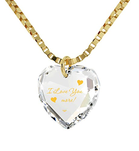 Nano Jewelry I Love You More Necklace 24k Gold