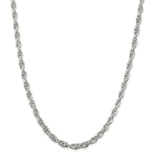 Sterling Silver 5mm Loose Link Rope Chain Necklace
