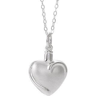 """Jewels By Lux Sterling Silver Heart Ash Holder 18"""" Necklace"""