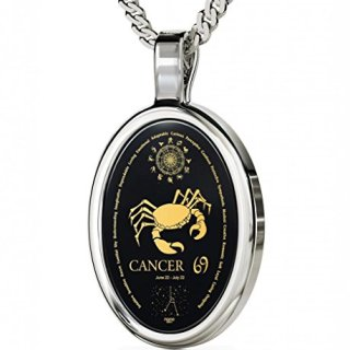 Nano Jewelry 925 Silver Zodiac Pendant Cancer Necklace