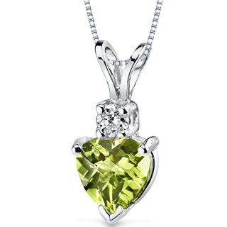 14 Karat White Gold Heart Shape 1.00 Carats