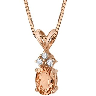 14 Karat Rose Gold Oval Shape 0.75 Carats Morganite