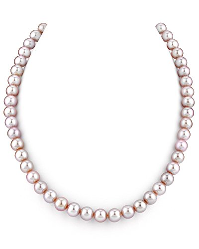 THE PEARL SOURCE 14K Gold AAA Quality Pink Freshwater