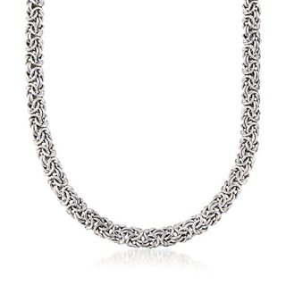 Ross-Simons Sterling Silver Classic Byzantine Necklace