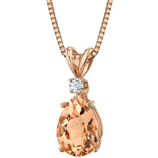 14 Karat Rose Gold Pear Shape 1.75 Carats Morganite