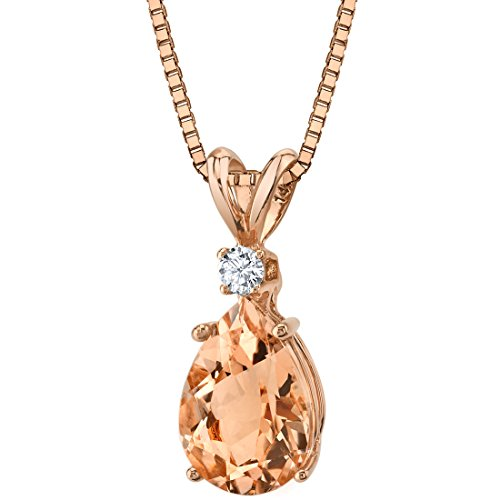 14 Karat Rose Gold Pear Shape 1.75 Carats Morganite