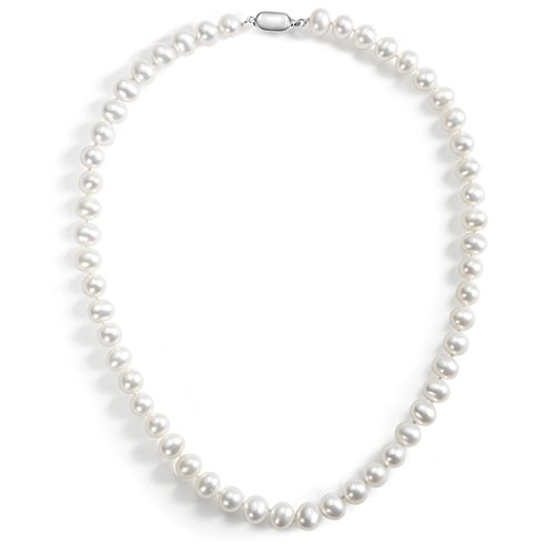 Carleen AA Quality Round White Natural Freshwater Cultured Pearl