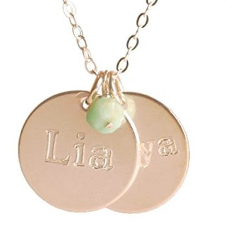 EFYTAL Personalized Sterling Silver Two Name Necklace On Disc