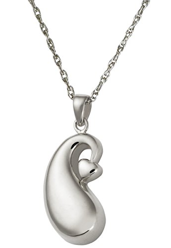 Cremation Memorial Jewelry: Sterling Silver Infinite Tear of Love