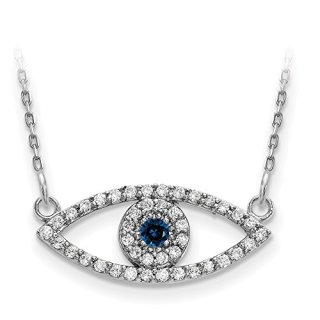 Jewels By Lux 14k White Gold Small Chain Necklace Diamond