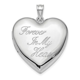 Sterling Silver 24mm Forever In My Heart Ash Holder Lo Necklace