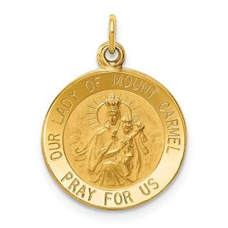 Jewels By Lux 14K Yellow Gold Our Lady of Mount Carmel Medal