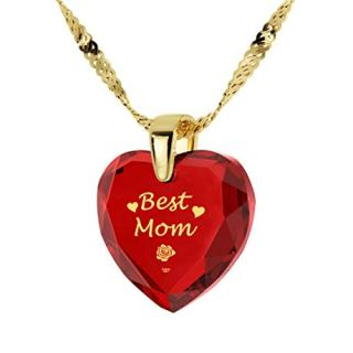 NanoStyle Gold Plated Best Mom Necklace - Heart Pendant