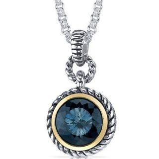 Portuguese Cut 4.50 carat London Blue Topaz Sterling Silver