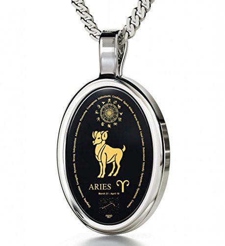 Nano Jewelry Silver Zodiac Pendant Aries Necklace