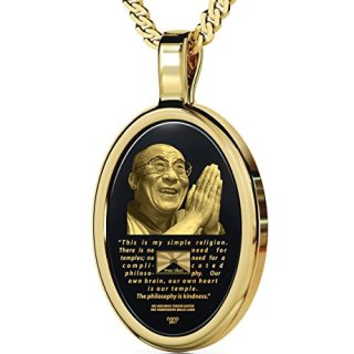 Nano Jewelry Gold Plated Dalai Lama Necklace Inscribed Free Tibet